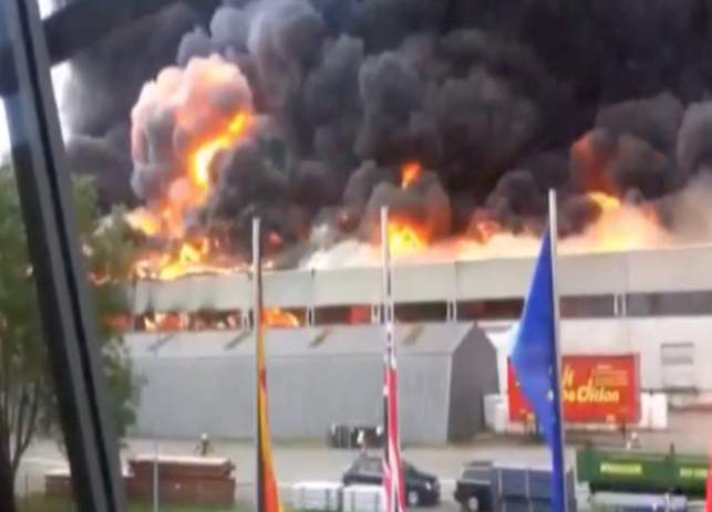 warehouse fire in Böblingen, Germany